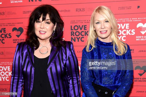 Ann Wilson and Nancy Wilson of the band Heart attend the Third Annual Love Rocks NYC Benefit Concert for God's Love We Deliver on March 07, 2019 in...