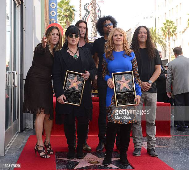 Ann Wilson Nancy Wilson with Rita Wilson Sean Kinney Mike Inez and William DuVall of the band Alice in Chains at Rock entertainers Ann and Nancy...