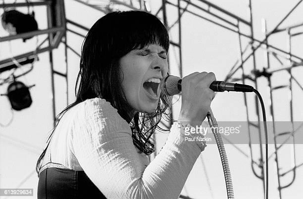 Ann Wilson of Heart at a festival in Kalamazoo Michigan July 7 1977