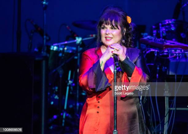 Ann Wilson of Heart performs at DTE Energy Music Theater on July 31, 2018 in Clarkston, Michigan.