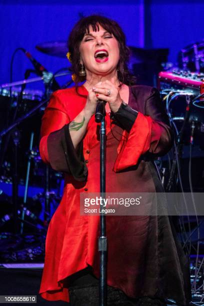Ann Wilson of Heart performs at DTE Energy Music Theater on July 31 2018 in Clarkston Michigan