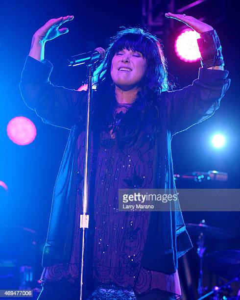 Ann Wilson of Heart performs at Fontainebleau Miami Beach on April 11, 2015 in Miami Beach, Florida.