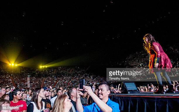 Ann Wilson of Heart performs at The Forum on August 23 2016 in Inglewood California