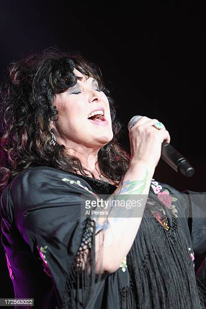 Ann Wilson of Heart performs during The Heartbreaker Tour at PNC Bank Arts Center on July 2 2013 in Holmdel New Jersey