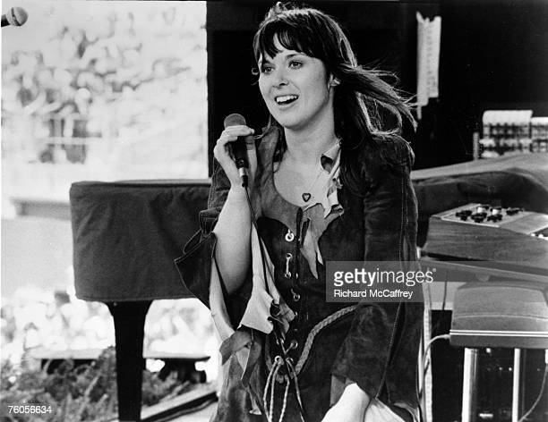 Ann Wilson of Heart performs live at The Oakland Coliseum in 1977 in Oakland California