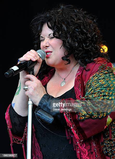 Ann Wilson of Heart performs on Day 2 of the 27th Annual Bridge School Benefit concert at Shoreline Amphitheatre on October 27, 2013 in Mountain...