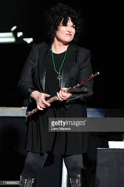 Ann Wilson of Heart performs on the opening night of their US tour at Cruzan Amphitheatre on June 15 2011 in West Palm Beach Florida