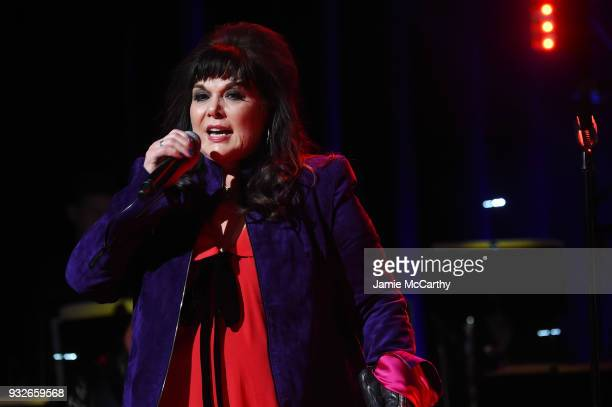 Ann Wilson of Heart performs onstage at the Second Annual LOVE ROCKS NYC! A Benefit Concert for God's Love We Deliver at Beacon Theatre on March 15,...