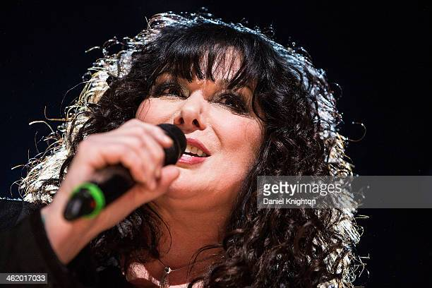 Ann WIlson of Heart performs onstage during the Concert For The Philippines at Club Nokia on January 11 2014 in Los Angeles California