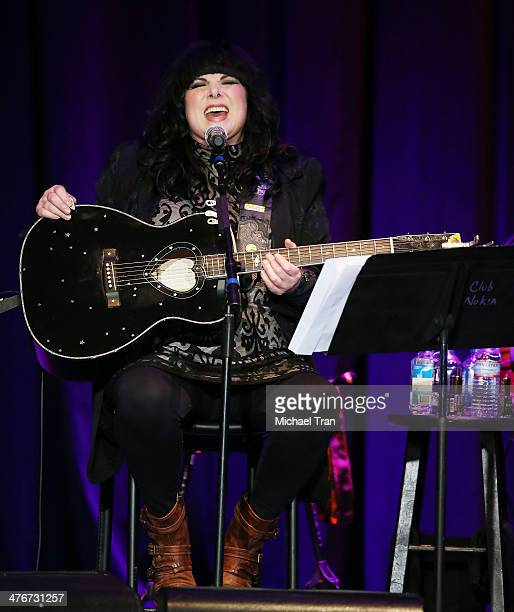 Ann Wilson of Heart performs onstage during the Country Music Hall of Fame Museum's 'All For The Hall' held at Club Nokia on March 4 2014 in Los...