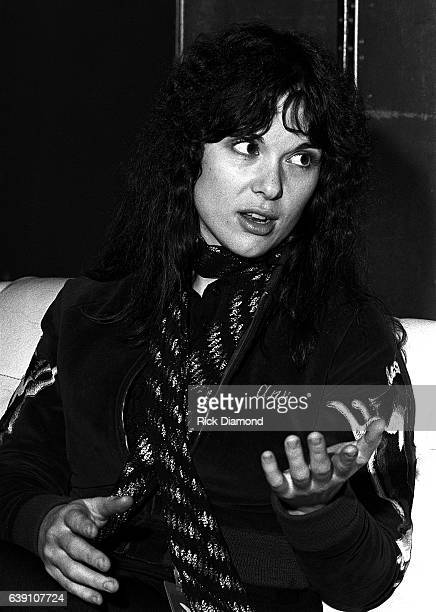 Ann Wilson of Rock group Heart backstage at The Omni Coliseum in Atlanta Georgia September 28 1978