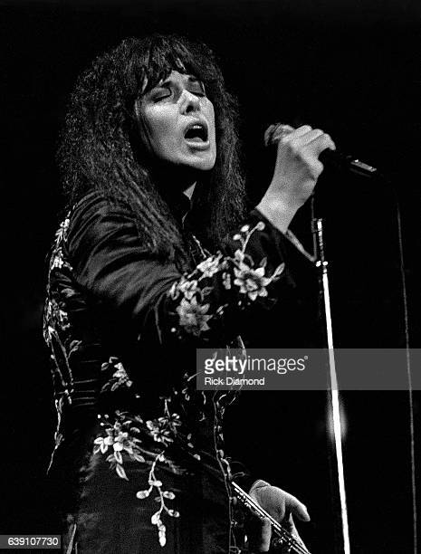 Ann Wilson of Rock group Heart performs at The Omni Coliseum in Atlanta Georgia September 28 1978