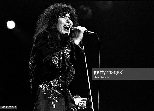 Ann Wilson of Rock group Heart performs at The Omni Coliseum in Atlanta Georgia September 28 1978