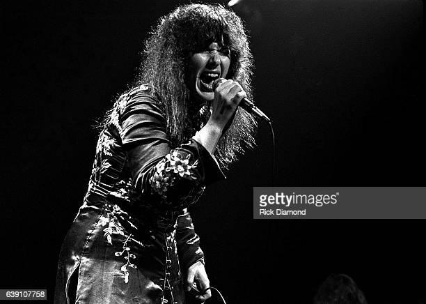 Ann Wilson of Rock group Heart performs at The Omni Coliseum in Atlanta Georgia September 28, 1978