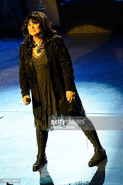 Ann Wilson of the band Heart performs at Beacon Theatre on October 3 2012 in New York City