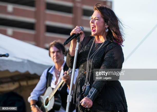 Ann Wilson of the band Heart performs solo at Detroit Riverfront on June 23 2017 in Detroit Michigan