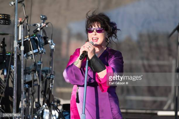 Deb Bonham performs in concert at Five Points Amphitheatre on July 20 2018 in Irvine California