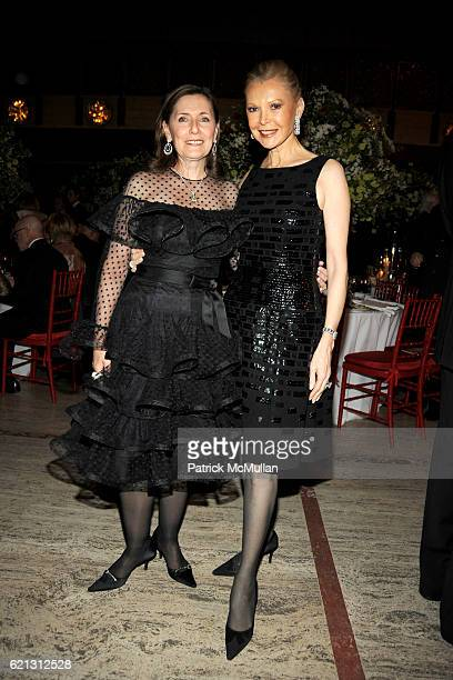 Ann Ziff and Audrey Gruss attend Literacy Partners Hosts Annual Gala An Evening of Readings Honoring David and Julia Koch at Lincoln Center on May 12...