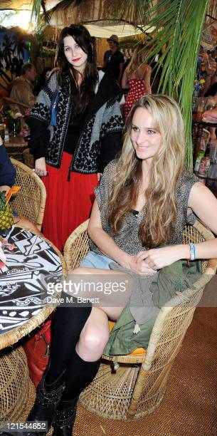Anna Abramovich and Bryony Daniels attend the launch of Mahiki Coconut during Day One of V Festival 2011 on August 20 2011 in Chelmsford England