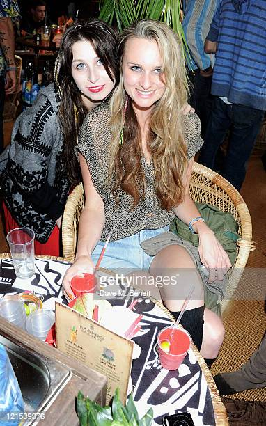 Anna Abramovich and Bryony Daniels attends the launch of Mahiki Coconut during Day One of V Festival 2011 on August 20 2011 in Chelmsford England