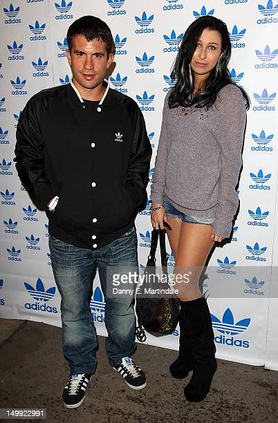 Anna Abramovich and friend attend The Stone Roses Adidas secret gig held at Adidas Underground on August 6 2012 in London England