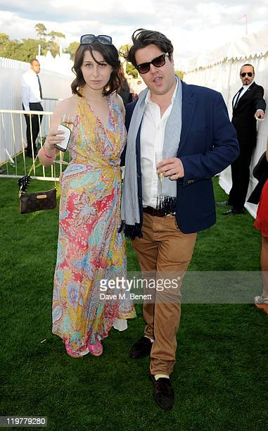 Anna Abramovich and Michael Evans attend the Chinawhite Evening Party during Cartier International Polo Day 2011 celebrating 100 years of the...