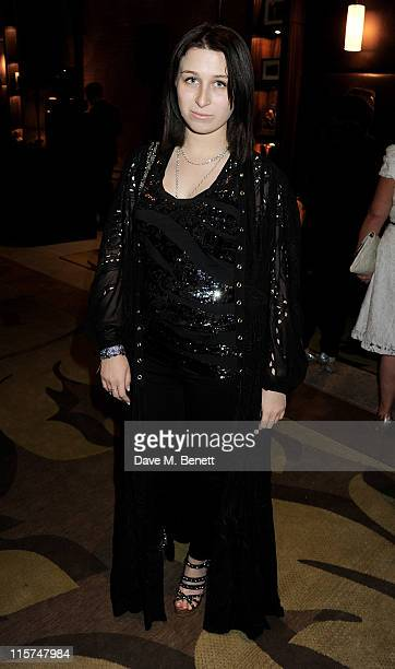 Anna Abramovich attends a celebration of Hilary Alexander's career in fashion hosted by the British Fashion Council and The Telegraph at the St...