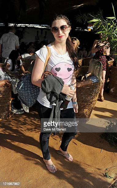 Anna Abramovich attends the launch of Mahiki Coconut liqueur backstage during Day Two of V Festival 2011 on August 21 2011 in Chelmsford England