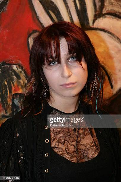 Anna Abramovich attends the private view of David Bailey's art exhibition 'Hitler Killed the Duck' at Scream Gallery on October 6 2011 in London...