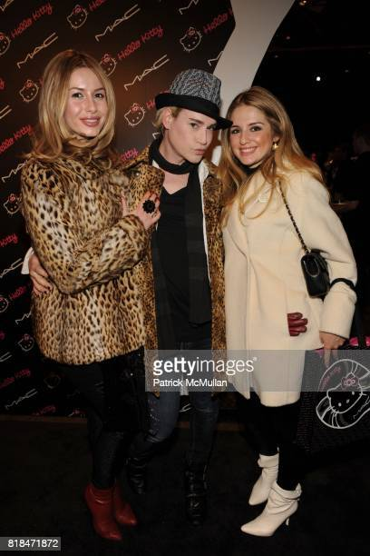 Anna Abramovich Richie Rich Sylvia Phillip attend MAC Cosmetics and V Magazine Celebrate the Launch of MAC Hello Kitty Collection at Cedar Lake on...