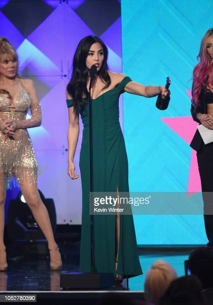 Anna Akana accepts the Acting in a Drama award for 'Youth Consequences' onstage during The 8th Annual Streamy Awards at The Beverly Hilton Hotel on...