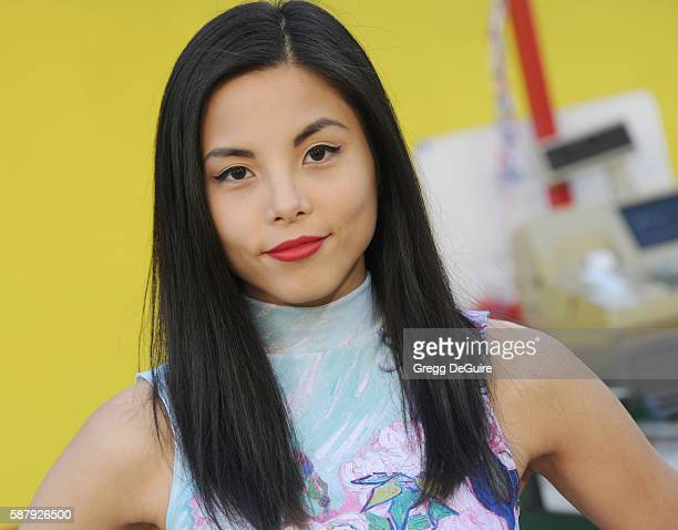 Anna Akana arrives at the premiere of Sony's 'Sausage Party' at Regency Village Theatre on August 9 2016 in Westwood California