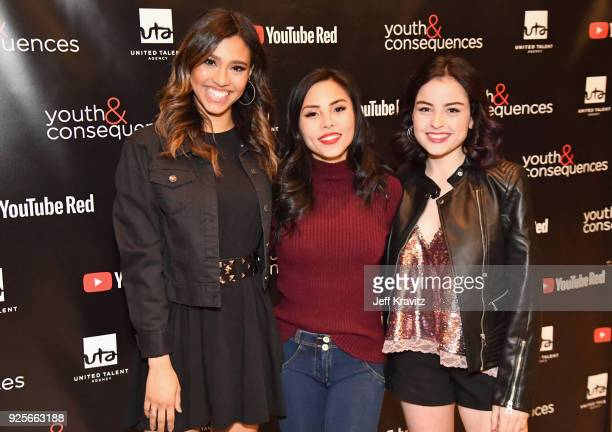 Anna Akana attends the YouTube Red Originals Series 'Youth Consequences' screening on February 28 2018 in Los Angeles California