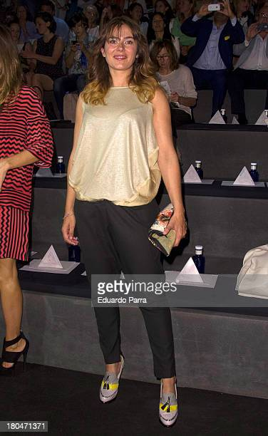 Anna Allen attends a fashion show during the Mercedes Benz Fashion Week Madrid Spring/Summer 2014 on September 13 2013 in Madrid Spain