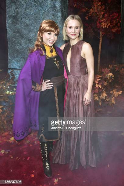 """Anna and Actress Kristen Bell attend the world premiere of Disney's """"Frozen 2"""" at Hollywood's Dolby Theatre on Thursday, November 7, 2019 in..."""