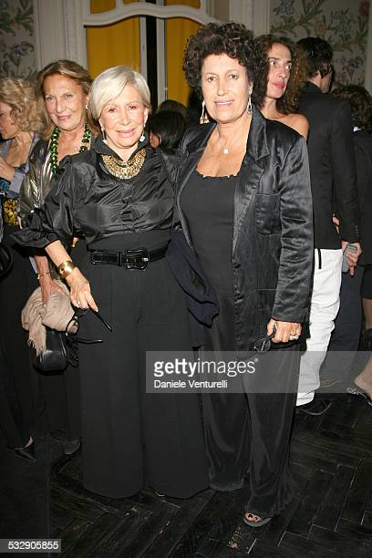 Anna and Carla Fendi during 1st Annual Rome Film Festival Fendi Party in Rome Italy