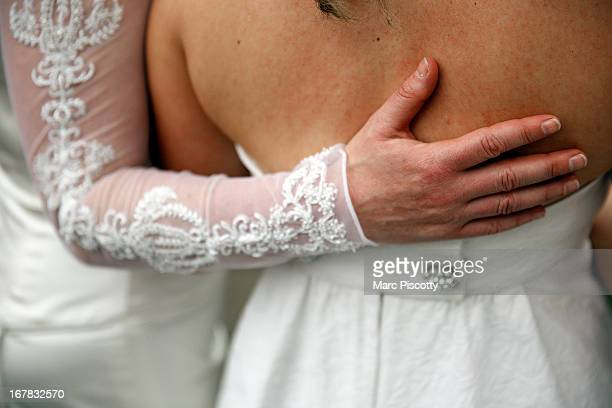 Anna and Fran Simon both of Denver Colorado become first samesex couple to be issued a Civil Union license at a midnight ceremony in the Denver...