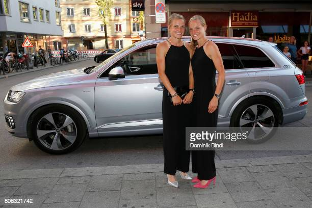 Anna and Lisa Hahner during the premiere of ''Das Pubertier'' at Mathaeser Filmpalast on July 4 2017 in Munich Germany