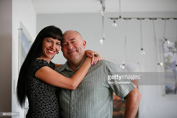 Anna and Serge Doroshin at Moozfly at their studio in Rancho Palos Verdes on OCTOBER 26 2012 Moozfly is a startup Spanish language comedy website...