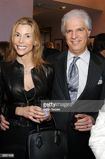 "Anna and Steven Victor attend Plum Sykes ""Bergdorf Blondes"" book launch party April 13, 2004 in New York, New York."