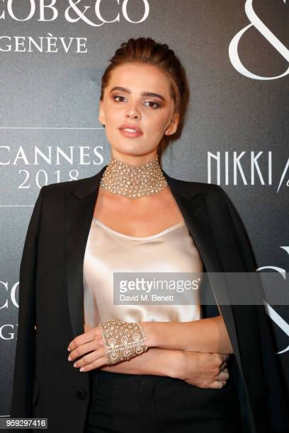 Anna Andreas attends the Jacob Co Cannes 2018 party at Nikki Beach on May 16 2018 in Cannes France