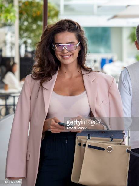 Anna Andres is seen at the hotel Martinez during the 72nd annual Cannes Film Festival on May 23 2019 in Cannes France