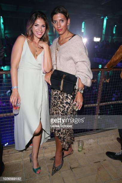 Anna Angelina Wolfers and Influencer Aylin Freund former Koenig during the 'Dua Lipa x Jaguar The PACE 'Season One' Launch on September 3 2018 In...