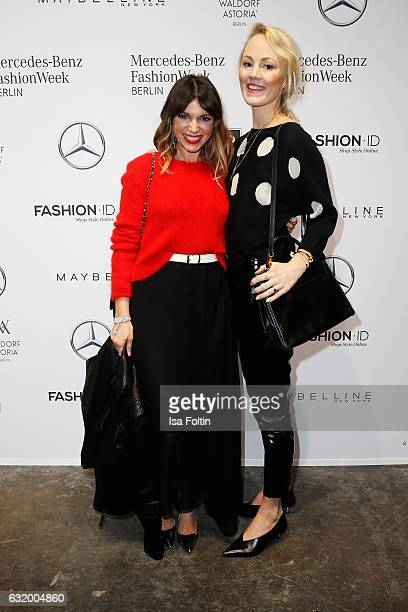 Anna Angelina Wolfers and Kate Gelinsky attend the Laurel show during the MercedesBenz Fashion Week Berlin A/W 2017 at Kaufhaus Jandorf on January 18...