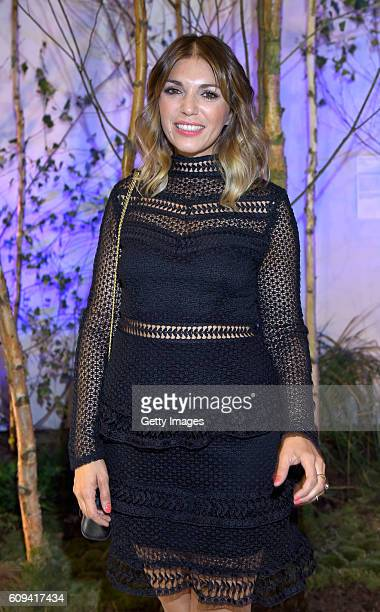 Anna Angelina Wolfers attends the 'Into the Forest' exhibition opening at Haus der Photographie at Deichtorhallen Hamburg on September 20 2016 in...