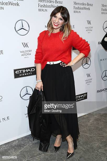 Anna Angelina Wolfers attends the Laurel show during the MercedesBenz Fashion Week Berlin A/W 2017 at Kaufhaus Jandorf on January 18 2017 in Berlin...
