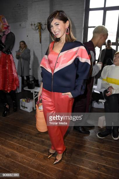 Anna Angelina Wolfers during the Marina Hoermanseder Defile during 'Der Berliner Salon' AW 18/19 at Von Greifswald on January 18 2018 in Berlin...