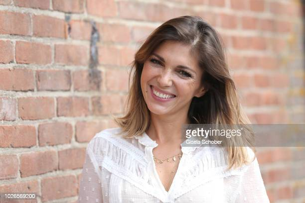 Anna Angelina Wolfers girlfriend of Johannes Strate singer of the band Revolverheld during the 'Dua Lipa x Jaguar The PACE 'Season One' Launch on...