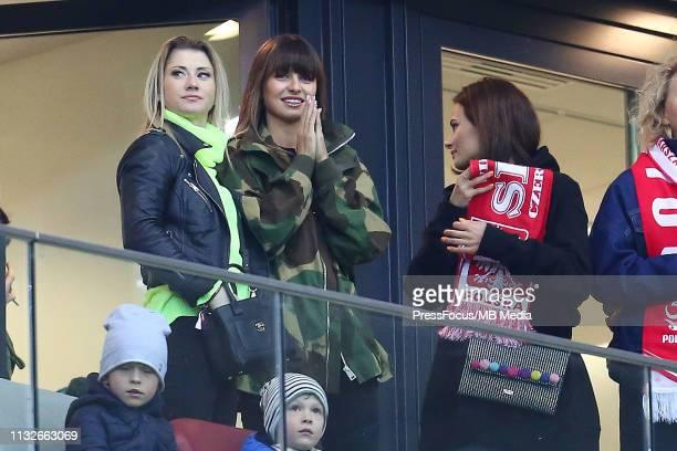 Anna Ania Lewandowska wife of Robert Lewandowski of Poland during the 2020 UEFA European Championships group G qualifying match between Poland and...