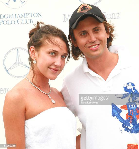 Anna Anisimova and Jonathan Cheban during Brooke Shields Hosts Opening Day of the 2006 MercedesBenz Polo Challenge at the Bridgehampton Polo Club at...